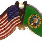 U.S. & STATE FLAG LAPEL PIN- Washington State