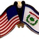 U.S. & STATE FLAG LAPEL PIN- West Virginia