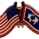 U.S. & STATE FLAG LAPEL PIN- Wyoming