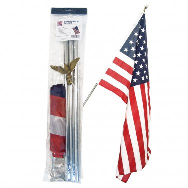 6 Foot Residential Flag Pole Kit With 3 X5 U S Flag