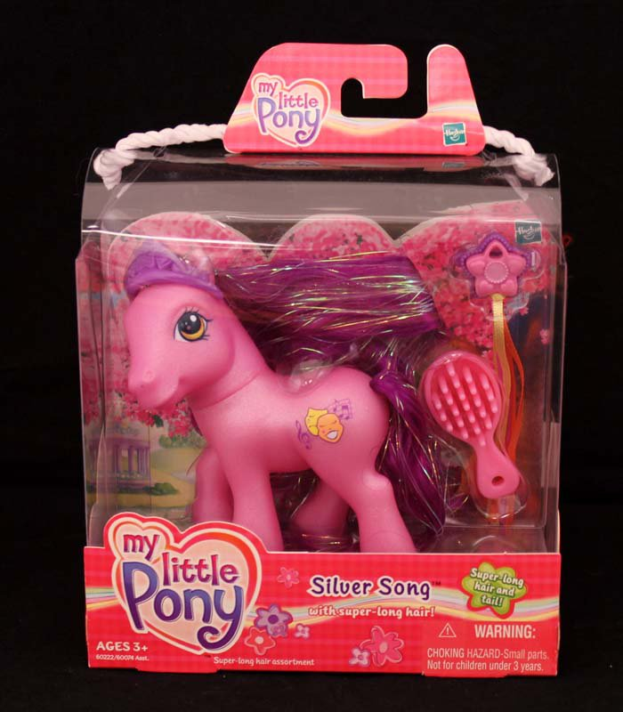 2003 G3-MLP My Little Pony Silver Song with Super Long Hair