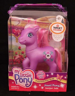 G3-Target Exclusive MLP My Little Pony Friendship Ball Jewel Pony Juniper Jade