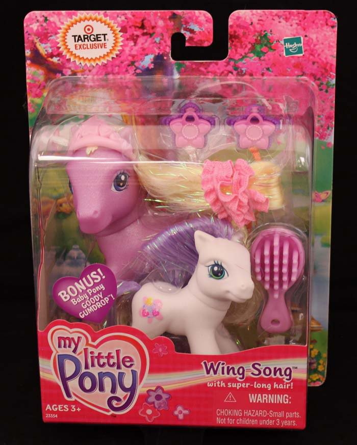 G3-MLP My Little Pony Target Exclusive Wing Song with Super Long Hair & Goody Gumdrop 2 Pack