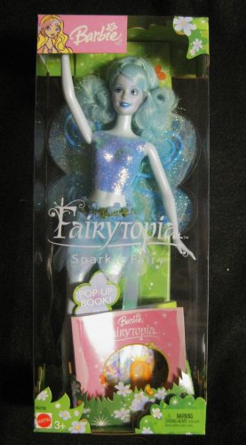 2003-NIB Mattel Barbie Doll Fairytopia Sparkle Fairy Blue w/Book