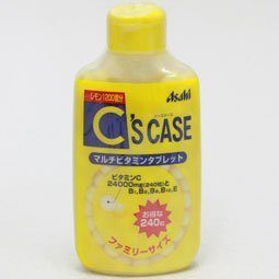 C's Case multi vitamin tablet Family Size 240 tablets Japan import