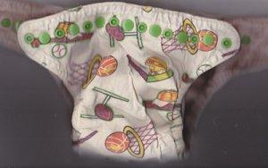 EUC Small-Medium WHAM fitted cloth diaper Sports, Snaps, Microfiber