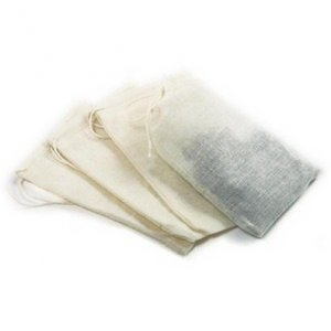 Set Of 4 Reusable 5� Muslin Tea Brew Bags. Steep teas, herbs, soups & more. By Norpro!