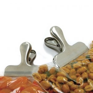 Norpro Stainless Steel Bag Clips. Ultra Heavy Duty Chip Clips. Pair of two (2).
