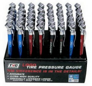 New Ford, Chevy / Chevrolet, or Dodge Quality Aluminum Tire Air Pressure Gauge.