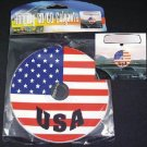 QTY 12 - Patriotic USA Flag Car Auto Rear-View Mirror CD Hanging Dangler