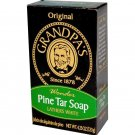 Ten (10) Pine Tar Soap Bars (4.25 oz size) - Grandpa's Soap. Factory Fresh