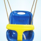 Secure Baby Infant Toddler Swing Seat Snug Fit High Back 6 - 48 Months BLUE
