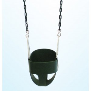 Secure Infant Toddler Bucket Swing Seat Park Snug Fit& High Back Come w Chains