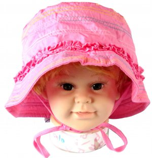 3-6 Years Dudula Baby Summer Sun Hat 100% Cotton in HOT PINK (4 COLORS AVAILABLE!!)