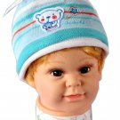 Dudula Honey Bear Crochet Beanie in BABY BLUE-Fits 6 mnths~ 12 months