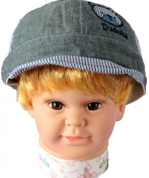 Dudula Bear Captain Baby Cap in GREY(3 COLORS AVAILABLE!!)-Fits 1 - 2 Years Old