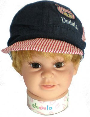 Dudula Bear Captain Baby Cap in DENIM(3 COLORS AVAILABLE!!)-Fits 1 - 2 Years Old