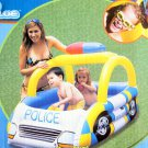 Children Blue Police Car Swim Seat, Play Boat and Pool! (57 * 38 * 38 Inch)