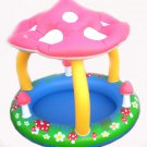 "Mushroom Baby Pool w/ Shade Canopy Perfect for Toddler Swim 40"" x 35"" BNIB 2012!"