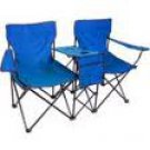 Lincoln Park BLUE Folding Chairs with Center Table& Storage AND A CARRYING BAG!