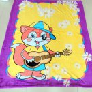 "Singing Kid Fox"" Children's Fleece Blanket (LARGE) 45*55"