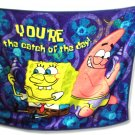 SPONGE BOB Coral Fleece Blanket with Button on the Edge( A blanket to wear)45*55