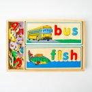 BRAND NEW Melissa & Doug Deluxe Wooden See and Spell Set Preschool Montessori