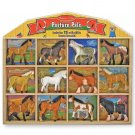BRAND NEW Melissa and Doug Pasture Pals 12 Horse Breeds w/ Wooden Display Case