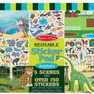 NEW Melissa & Doug Reusable Sticker Pad 3 Themes to Choose Habitats