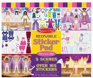 NEW Melissa & Doug Reusable Sticker Pad 3 Themes to Choose Dress-Up