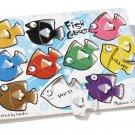 Melissa Doug Fish Colors Mix n' Match Peg Puzzle Preschool Montessori 2012 BNIB!