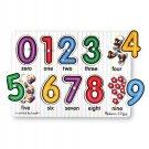 Melissa & Doug Number Peg Puzzle w/ Pictures Preschool Montessori 2012 BNIB NWT!