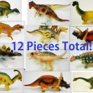 LOT of TWELVE 12 New Prehistoric Extinct Jurassic Dinosaurs Great 4 Party Favors