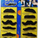 12 Pack Self Adhesive Costume Mustaches 4 Fake Halloween Party Favors Costume !!