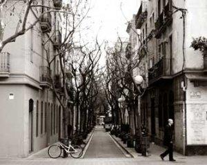 Barcelona Spain street in Eixample area