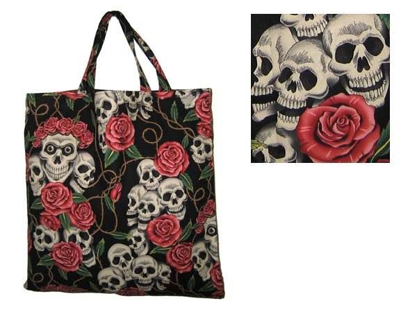 "Alexander Henry ""Rose Tattoo"" cotton tote bag"