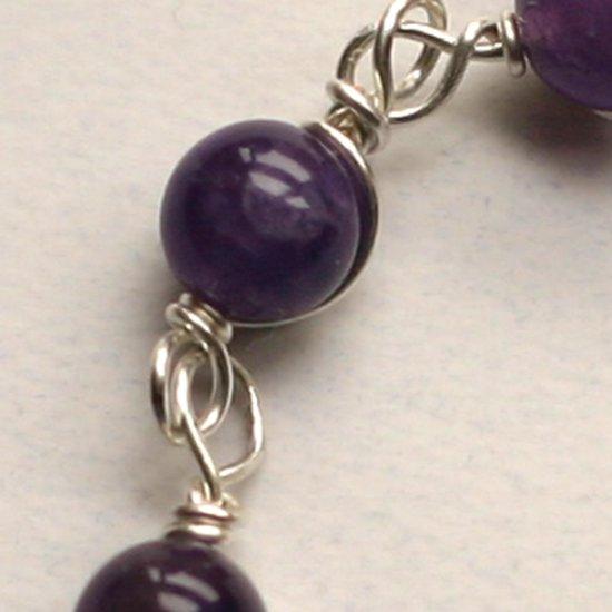 Wire Wrap amethyst bracelet