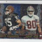 1995 Bowmans Best #27 Jerry Rice & Derrick Alexander NMT-MT