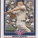 2008 Topps Opening Day Flapper Card #FC-MM Mickey Mantle Yankees HOF