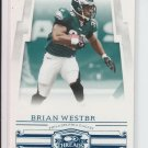 2007 Donruss Threads Retail Blue #37 Brian Westbrook Eagles #'D 227/350 UER