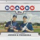 2008 Topps Series 2 #447 Chipper Jones/Mark Teixeira Braves