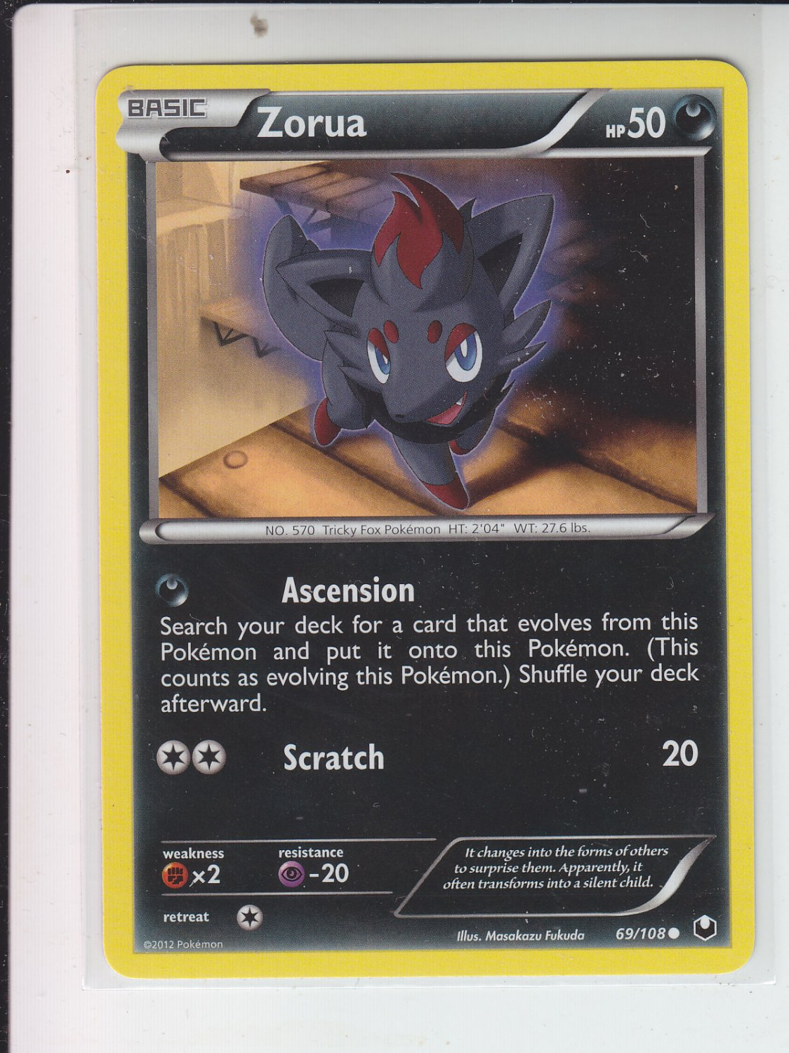 Pokemon Dark Explorers Common #69/108 Zorua