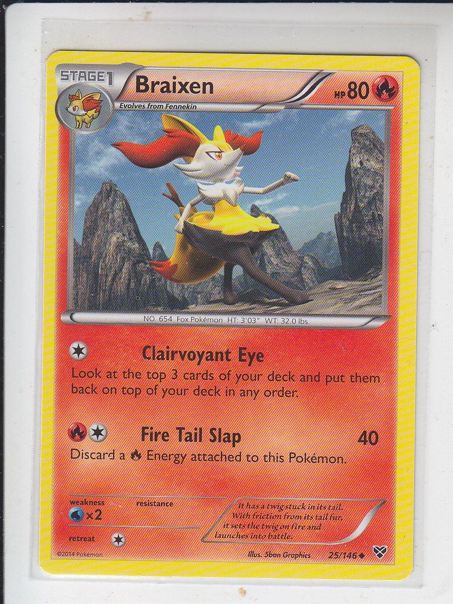 Braixen Uncommon Pokemon Black & White XY #25/146
