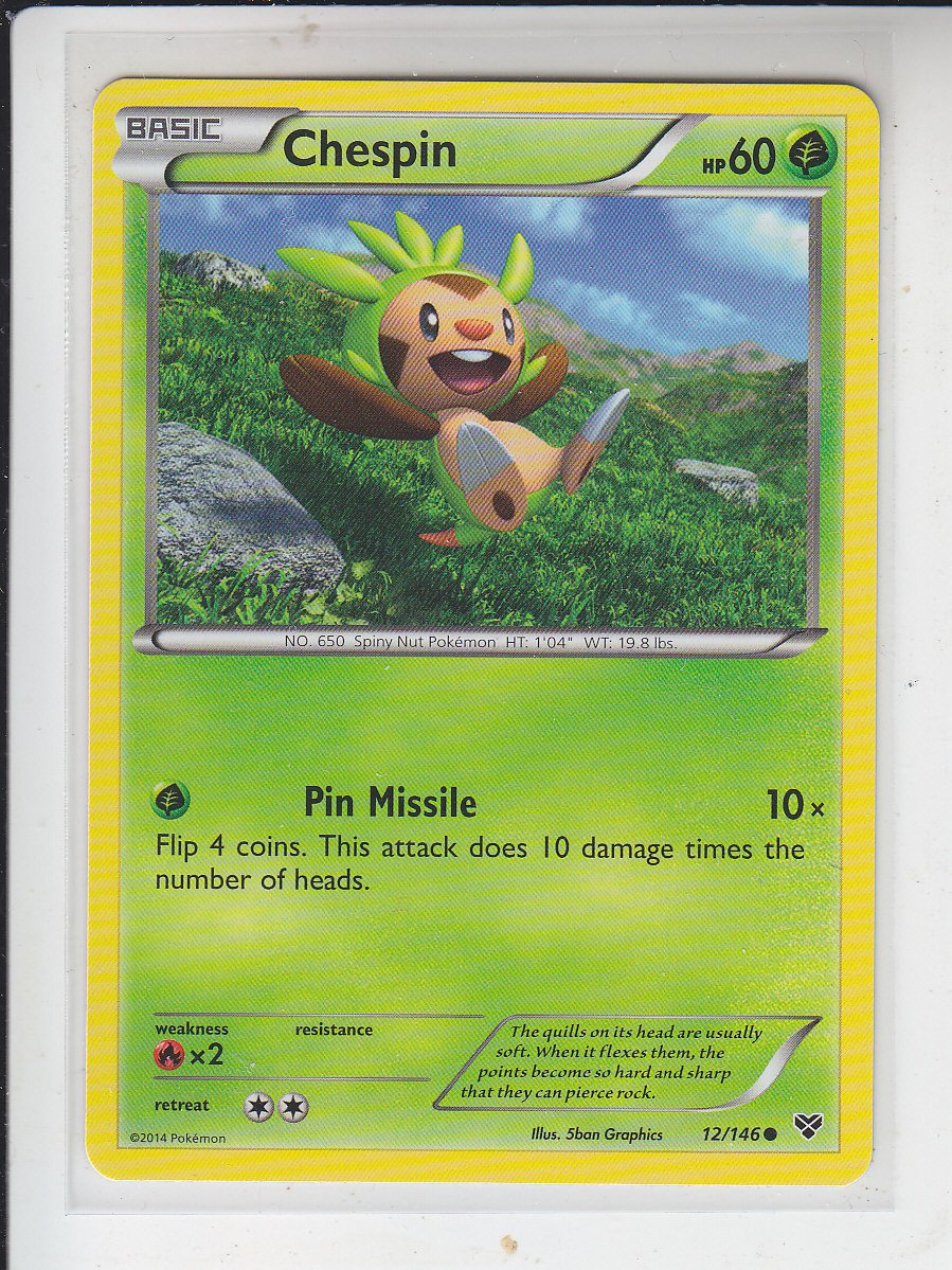 Chespin Uncommon Pokemon Black & White XY #12/146 x1