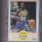 George McCloud Rookie Card Lot of (21) 1990-91 Fleer #77 Pacers