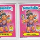 Orange Gina Base Lot of (2) Garbage Pail Kids Series 2 Trading Card #78b