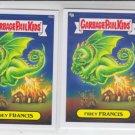 Firey Francis Base Lot x2 Garbage Pail Kids Series 2 Trading Card #98a