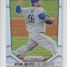 Hyun-Jin Ryu Refractors 2014 Panini Prizm #27 Dodgers