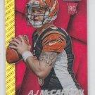 AJ McCarron RC Red Gold Logo Refractor 2014 Panini Prizm #293 Bengals