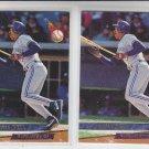 Derek Bell Rookie Card Lot of (2) 1993 Fleer Ultra #286 Blue Jays